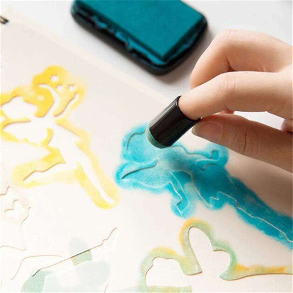 10 x Gummistempel zum Verschmieren manueller DIY Stempel Malwerkzeug F/ärben Karte Farbe f/ür Kinder