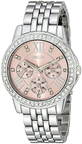 Relic by Fossil Women's Layla Quartz Metal Dress Watch, Color: Silver (Model: ZR15752) ()