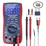 Case of 100, AstroAI Digital Multimeter, TRMS 6000 Counts Volt Meter Manual and Auto Ranging; Measures Voltage Tester, Current, Resistance, Continuity, Frequency; Tests Diodes, Transistors