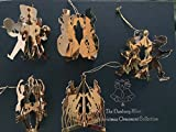 Danbury Mint 23kt Gold Christmas Ornament Collection Set of 12 Various Years