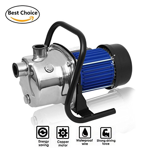 Meditool 1.6HP Shallow Well Pump Stainless Booster Pump Lawn Water Pump Electric Water Transfer Home Garden Irrigation 115V - Lawn Sprinkler Pump