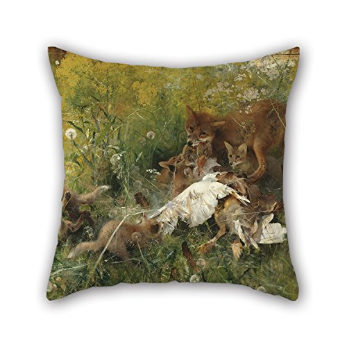 The Philadelphia Story Costumes (Slimmingpiggy Oil Painting Bruno Liljefors - A Fox Family Pillowcover ,best For Outdoor,indoor,club,office,husband,dance Room 16 X 16 Inches / 40 By 40 Cm(double Sides))