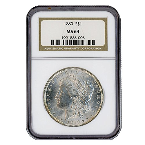 1880 P Morgan Silver Dollar $1 MS63 NGC