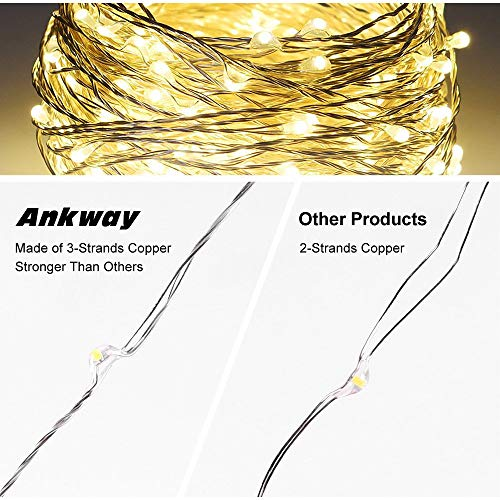 Solar String Lights Ankway 200 Led Fairy 8 Modes 3strands. Solar String Lights Ankway 200 Led Fairy 8 Modes 3strands Copper Wire 72 Ft. Wiring. Wiring Diagram Solar String Lights At Scoala.co