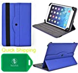DigiLand DL7 , Digital2 Pad Platinum 7, Cube iWork 7 , Omgar Ultrathin 7 inch Protective Tablet travel case and stand with lanscape and portrait veiwing options (Royal Blue)