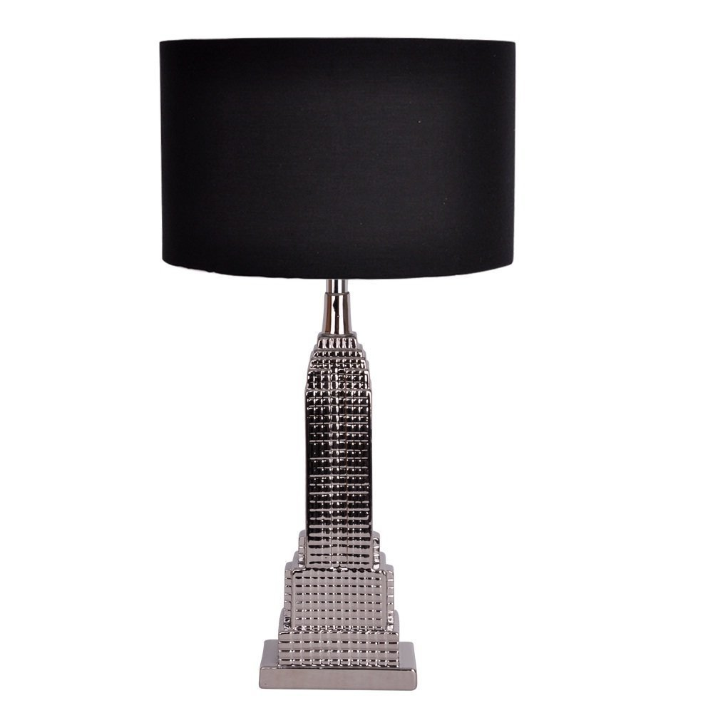 Modern silver new york empire state building table lamp with black modern silver new york empire state building table lamp with black shade amazon lighting mozeypictures Choice Image