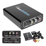 HDMI to S Video Composite 3RCA AV Converter AV RCA CVBS/L/R Video Audio Converter Adapter PAL / NTSC CVBS Converter Adapter Support 720P/1080P Support DVD PS2 PS3 Xbox HDTV