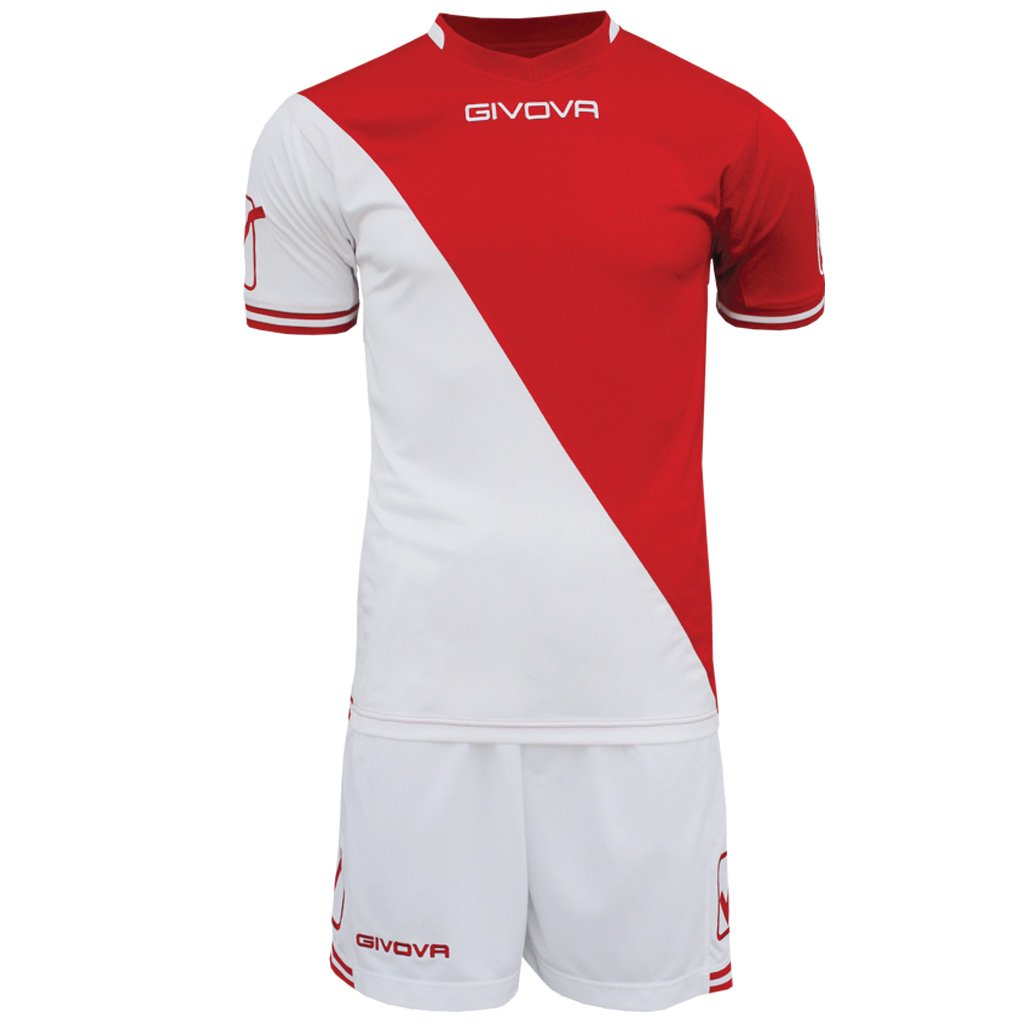 TALLA S. Givova, kit craft, blanco/rojo, S