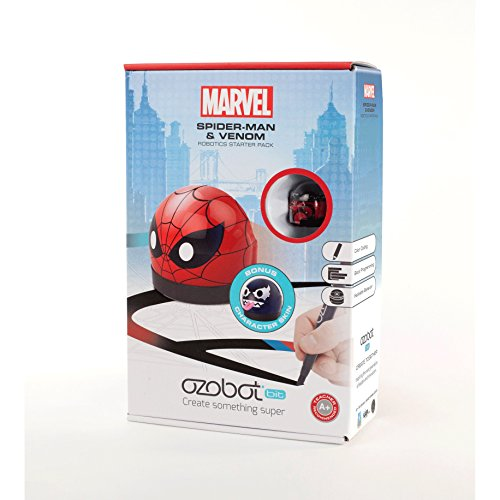 Marvel Ozobot 2.0 Bit Starter Pack, Spider-man Icon