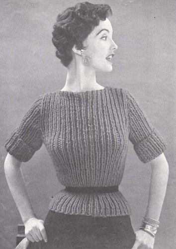 Knit Quick And Easy Bulky Sweater Knitting Pattern Sizes 12 14 And