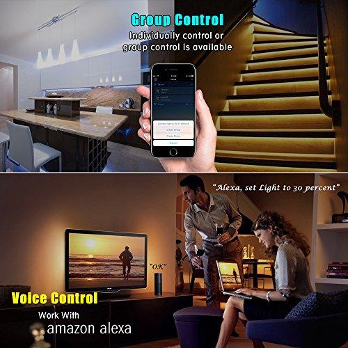 Nexlux Led Strip Lights Wifi Wireless Smart Phone Controlled Light Strip Kit 16 4ft 150leds