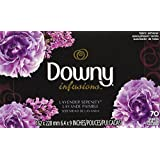 Downy infusions hojas para secadora, aroma lavander, 70 piezas
