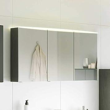 Pharao24 Badezimmer Spiegelschrank mit LED Beleuchtung 120 cm breit ...