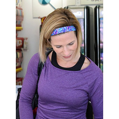Taffy Purple – Sweaty Bands Non-Slip Fitness Headband – Polyester Fashion Headband – 1-Inch Wide