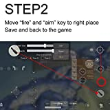 Mobile Game Controller for PUBG, Metallic Aim and