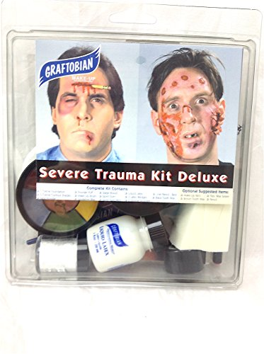 [Graftobian Professional Makeup Deluxe Severe Trauma Kit] (Special Effects Makeup Kit)