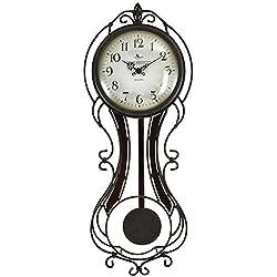 24 in. H Fleur Pendulum Wall Clock