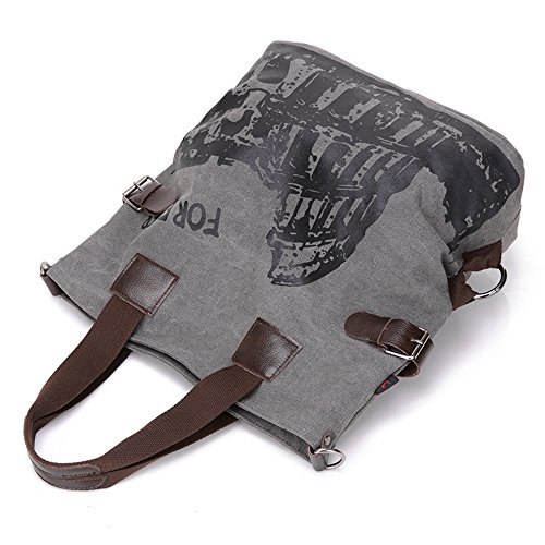 BYD - Mujeres Large Bag Bolsos bandolera Mutil Pocket Design Bag Crossbody Bag Tote Carteras de mano Canvas with Rome Arena Picture Gris