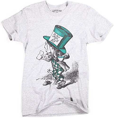 Superluxe Clothing Mens Mad Hatter Vintage Style Alice in Wonderland T-Shirt