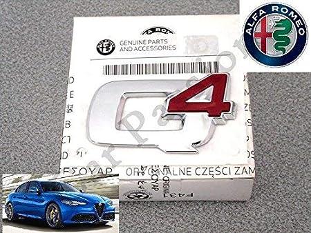 Schriftzug Wappen Q4 Für Alfa Romeo Giulia Sigla Rear Emblem Auto