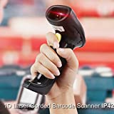 Wired Handheld USB Barcode Scanner MUNBYN 1D Laser Bar code Scanner, Fast and Precise Scan Support Window/Mac/linux system