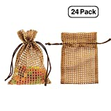 "Linen and Bags 4""x6"" Soft Cotton Mesh Drawstring Bags for Party Favors, Crafts, and Keepsakes Multipurpose 25 Bag Pack (Coffee Brown)"