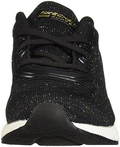 Glam Skechers Black Squad Total Chaussures de Bobs Multi Noir Femme Bkmt Fitness znrnt