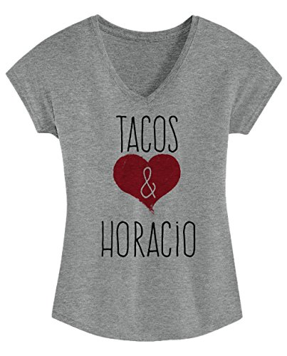 I Love Tacos & Horacio - Cute, Stylish Ladies' Triblend V-neck