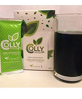 Colly Chlorophyll Plus Fiber Belly Fat Slimming Tea - Detox/ Weight Loss Dtox