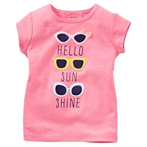 Carter's Baby Girls' Tee (Baby) - Sunglasses - 18 Months