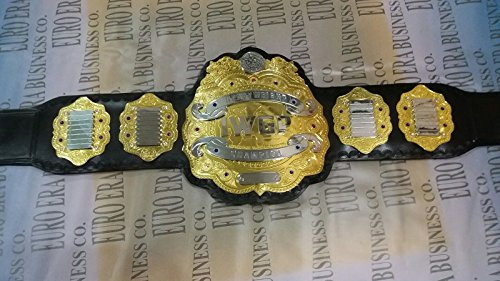 - New Replica IWGP Champion Belt , Adult Size & Metal Plates