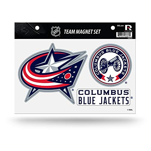 Rico Industries NHL Columbus Blue Jackets Die Cut Team Magnet Set ()