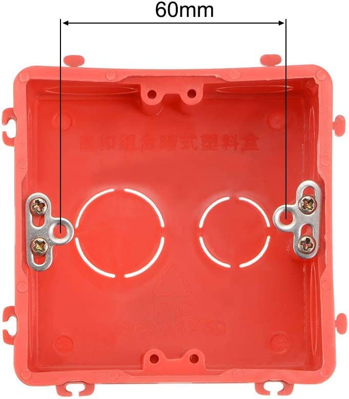 wall switch box Deep box Recessed mounting 86 Individual Gang type Red 10 pieces