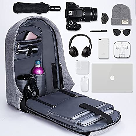 Heypex BM25 Anti-Theft Water Resistant USB Charging Port Laptop Backpack for  School,Office   College (Assorted Colour)  Amazon.in  Bags, Wallets    Luggage a2d167c662