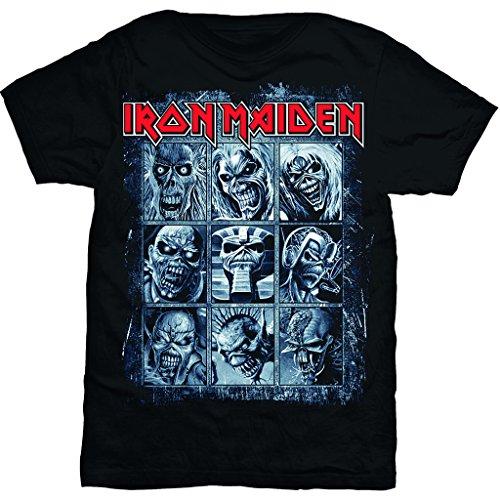 (Iron Maiden Albums Nine Eddies Steve Harris Official Tee T-Shirt Mens Unisex (Medium))