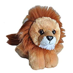 Wild Republic Lion Plush, Stuffed Animal, Plush Toy, Gifts for Kids, Hug'Ems 7″