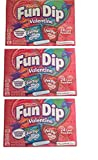 Wonka Fun Dip Valentine's Day Classroom Exchange Card & Candy Kit (3 Pack - 72 Card Pouches)