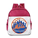 LINNA Personalized New York 7# Melo Basketball Player Children School Bagpack For 1-6 Years Old Pink