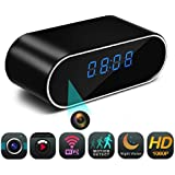Spy Camera, Hidden Camera in Clock WiFi hidden Cameras 1080P Video Recorder Wireless IP Camera for In Home Security Monitoring Nanny Cam Night Vision Motion Detection