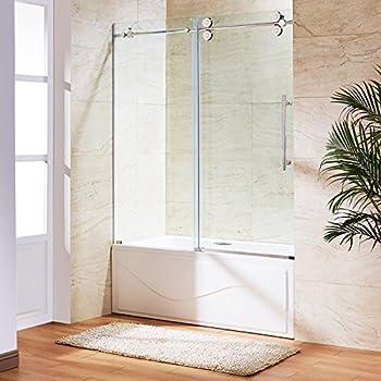 Frameless Sliding Tub Shower Doors