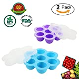 qt freezer containers - Silicone Egg Bites Molds 2 Pack for Instant Pot Accessories, Reusable Baby Food Storage Container Freezer Trays, Fits Instant Pot 5,6,8 qt Pressure Cooker - iWeller.