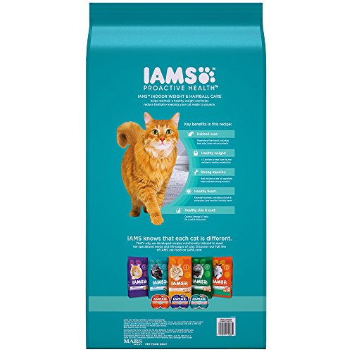 Iams PROACTIVE HEALTH Indoor Weight and Hairball Care Dry Cat Food, (1) 22 Pound Bag, Real Chicken in Every Bite by Iams (Image #1)