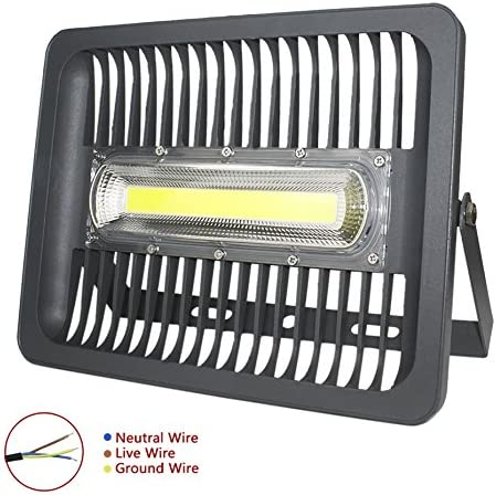 ASIGN 150W LED Cob Outdoor Flood Lights, Super Bright Work Lights 14000lm 800W Halogen Bulb Equivalent 6000K Daylight White IP66 Waterproof Security Light for Garage Yard