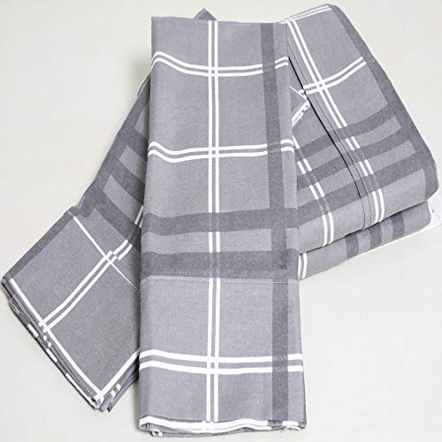 Price comparison product image PH 4 Piece Queen Grey Plaid Printed Sheet Set, Casual & Modern Style, Plaid Pattern, Cotton & Flannel Material, Deep Pockets, Plain Weave, Fully Elasticized Fitted, Machine Wash - Plaid Print