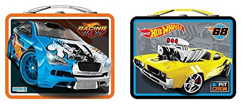 Lunch Box - Hot Wheels - Racing Metal Tin Case New 567607 (1 Style Only) Hot Metal