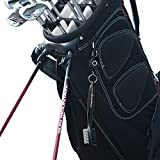 Golf-Brush-and-Club-Groove-Cleaner-By-Ace-Golf-in-8-Different-Colors-2-Ft-Retractable-Zip-line-Aluminum-Carabiner-Lightweight-and-Stylish-Ergonomic-Design-Easily-Attaches-to-Golf-Bag