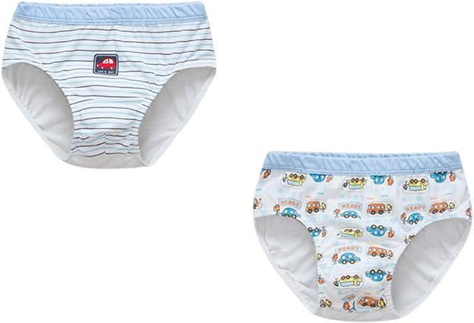 LONMEI Algodón Braguitas para Niños - Paquete de 2 Pequeño Niño ...
