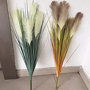 ZJJFZH Artificial Decorative Flowers Simulation Reed Grass Plastic Flower Dried Flower Fake Flower Simulation Foxtail Simulation Sun Chrysanthemum Home Decoration Slender Grass 118