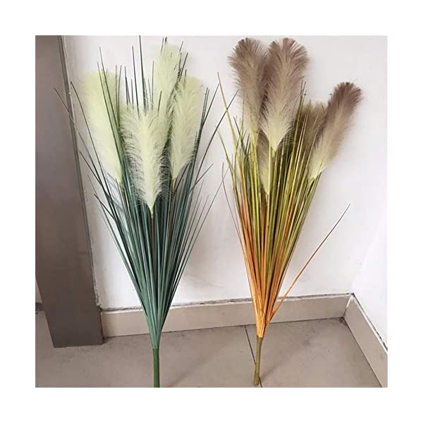 ZJJFZH Artificial Decorative Flowers Simulation Reed Grass Plastic Flower Dried Flower Fake Flower Simulation Foxtail Simulation Sun Chrysanthemum Home Decoration Slender Grass