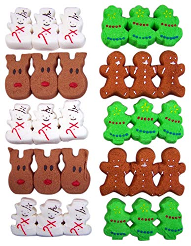 Price comparison product image Christmas Holiday Peeps 4 Pack Bundle With Trees,  Gingerbread Men,  Snowmen,  and Reindeer